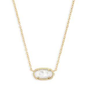 Kendra Scott Elisa Pendant Necklace Ivory Pearl